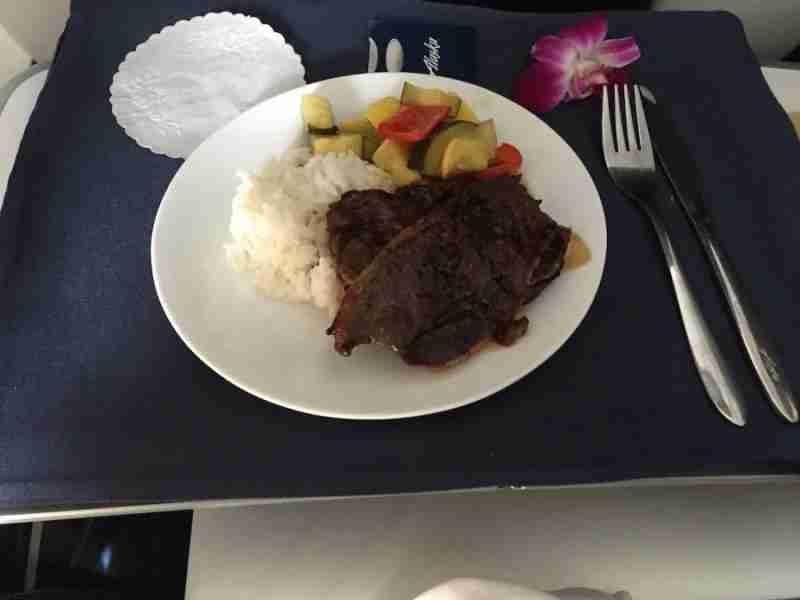 Korean beef short ribs with veggies and steamed rice