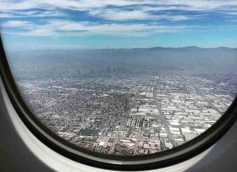 Soaring back into LA.
