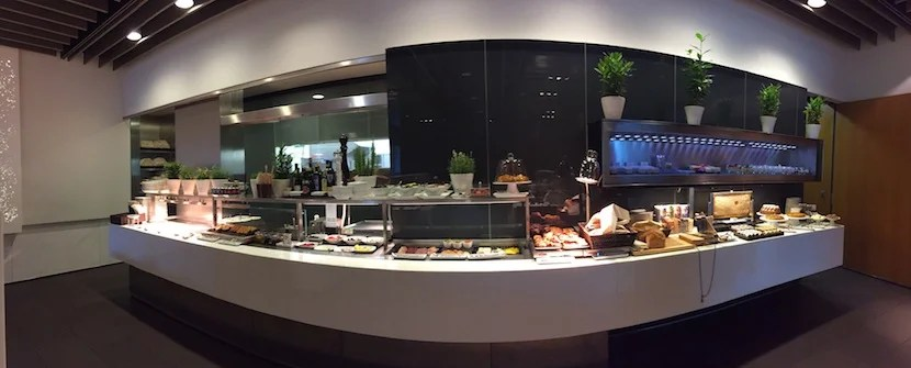 The buffet included a plethora of both hot and cold options.