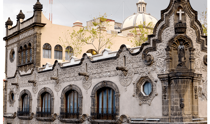 The Hampton Inn & Suites Mexico City is in a beautiful 18th-century building.
