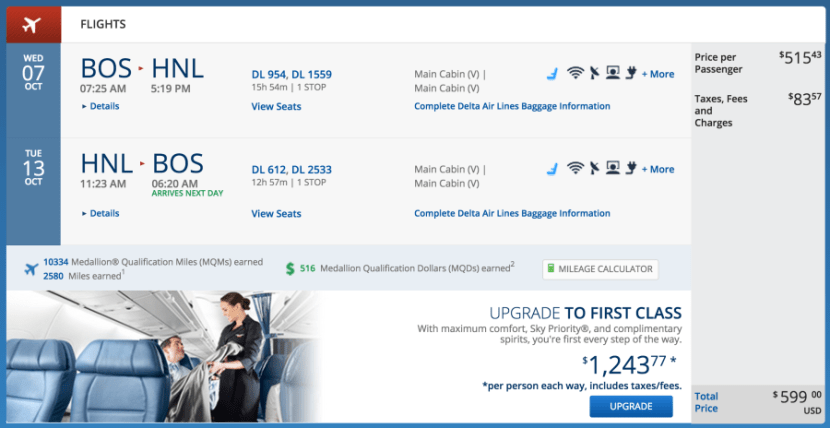 Boston to Honolulu for $599 on Delta.