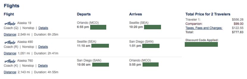 Nick's Alaska itinerary