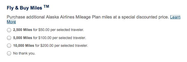 Alaska Fly & Buy miles