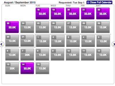 32,500 AA miles for A321T First Class  is good value, but availability can be sparse.