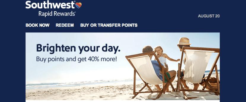 Southwest is offering certain Rapid Rewards members a 40% purchase bonus. But is it worth it?