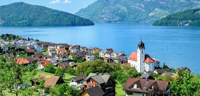 Visit Switzerland on Delta by flying round trip from the US in business for 80,000 Korean miles.