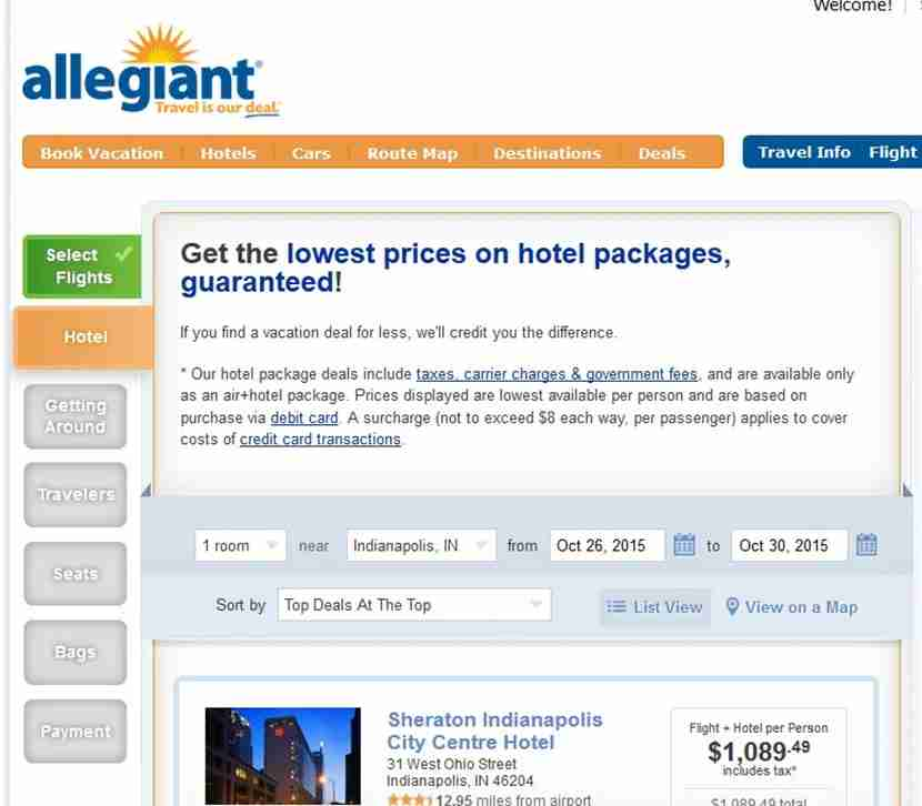 Allegiant puts you through many steps before you can buy a plane ticket.