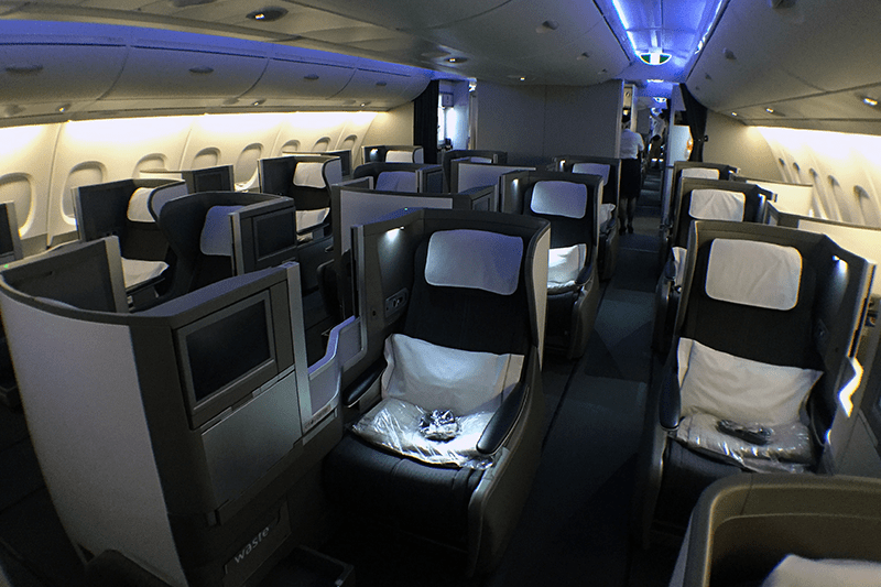Club World seats are arranged as 2-3-2 in the A380 upper cabin