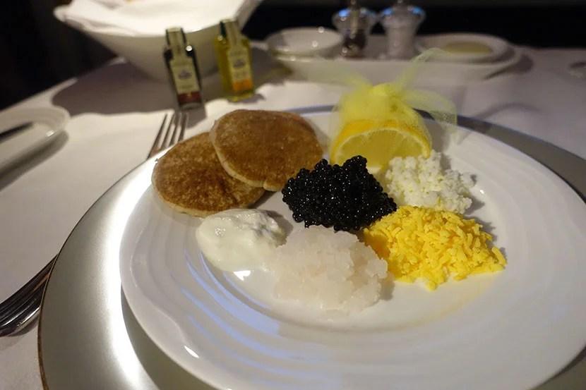 The caviar spread.