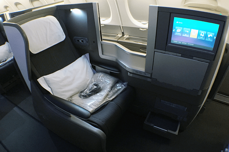 A Club World seat on British Airways A380.