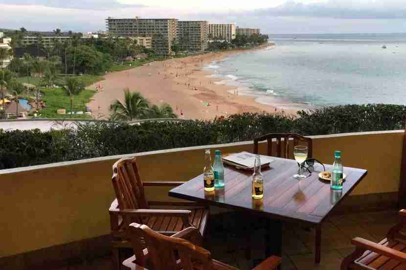 The view from the Club Lounge at Sheraton Maui.