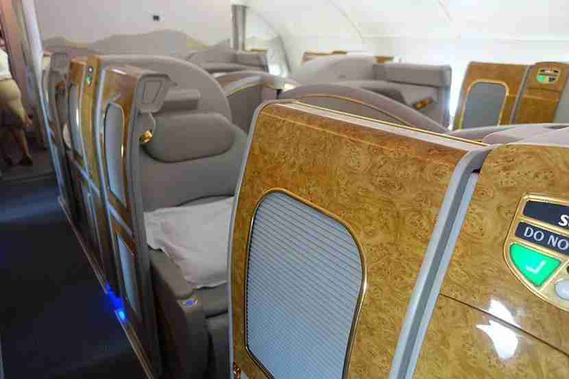 Thanks to the sliding doors, the first-class seats really do feel like suites — but relatively small ones!