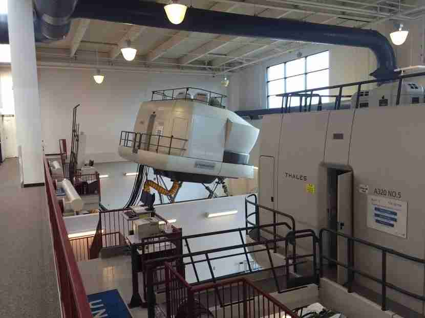 The full-motion simulators used to train professional pilots cost millions of dollars and are rarely open to the public.