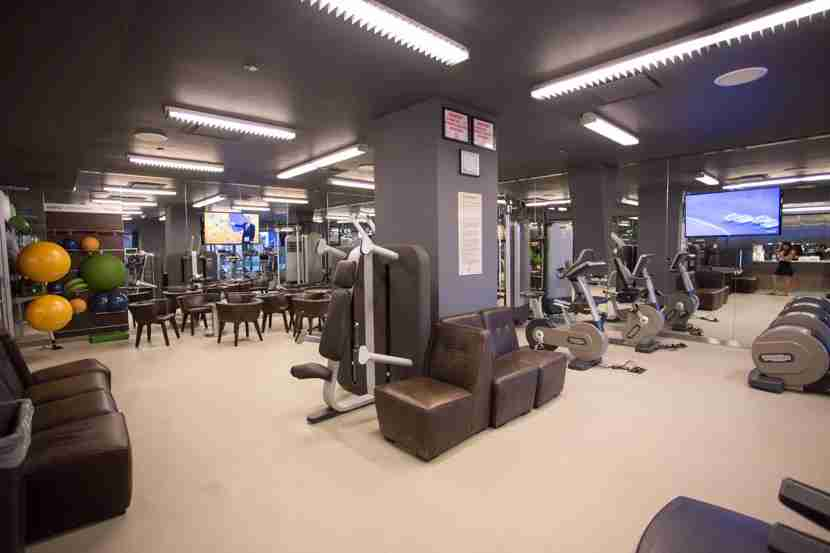 The fitness center at the Virgin Hotel was basic, but serviceable.