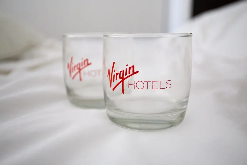 As a reward for visiting all four restaurants, I was given two nice Virgin glasses.