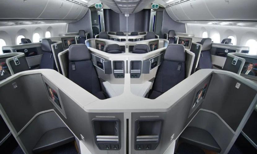 Business class on AA's 777-300ER.