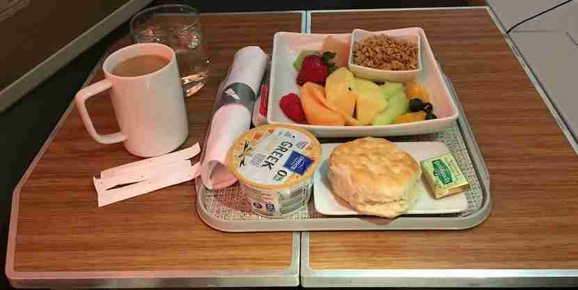 AA 777-200 biz breakfast