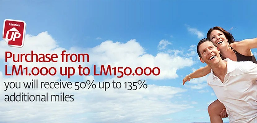Avianca is offering a bonus of up to 135%.