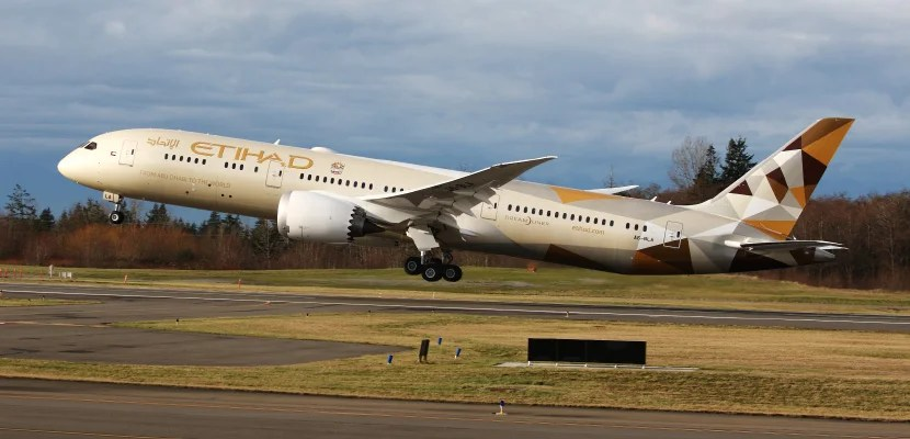 Etihad's 787 Dreamliners and A380s feature rear-facing seats in first and business class.