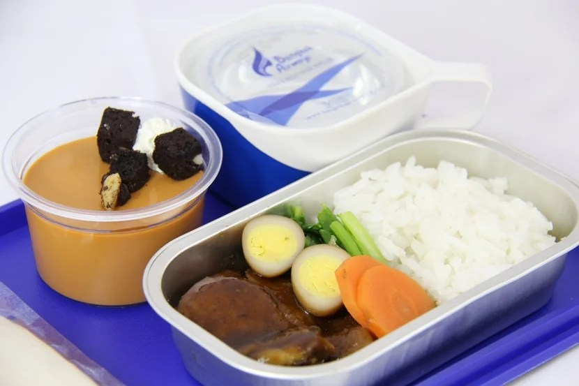 A meal in economy class on Bangkok Airways. Photo courtesy of the airline.