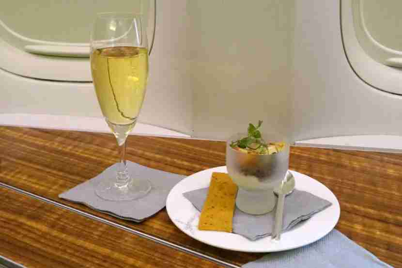 You also receive a small amuse bouche before departure.
