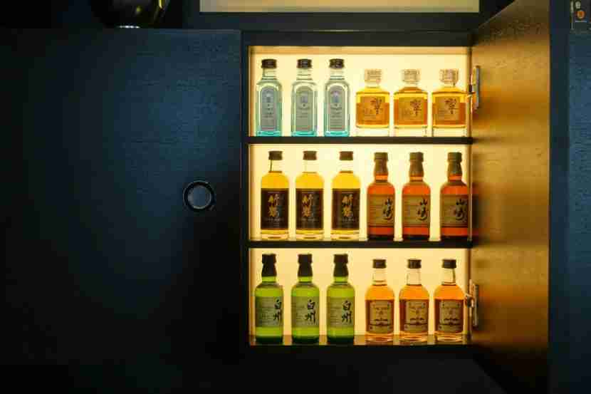 Even the minibar is a work of art.