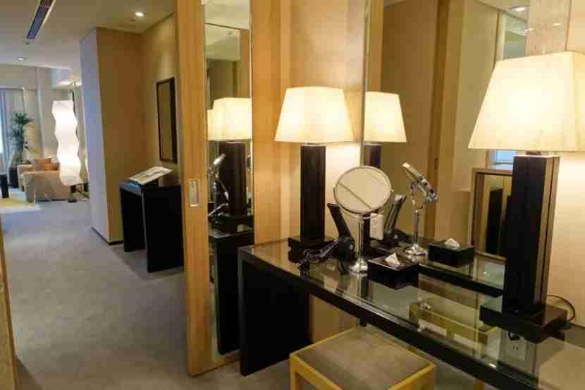 The large bathroom vanity.