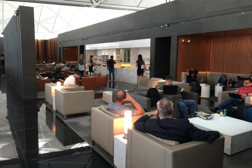 The main room at The Wing business lounge.