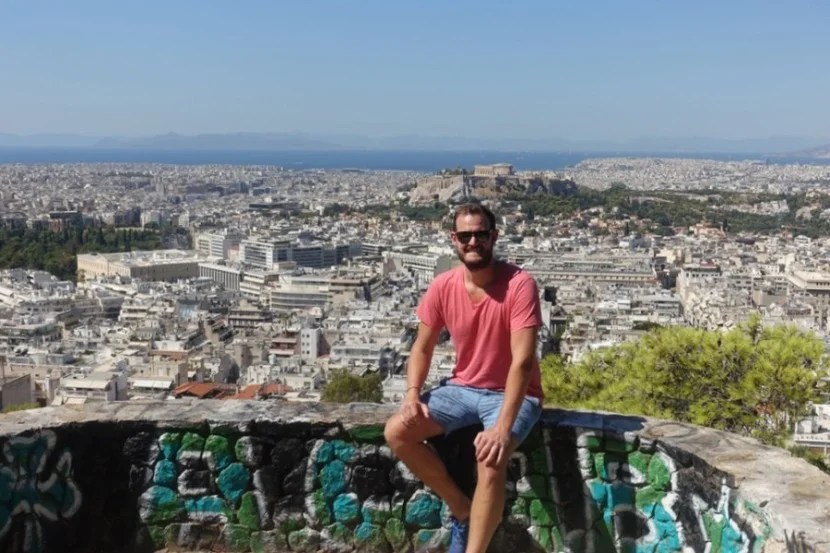 Hanging out on the Balcony of Athens, Lycabettus Hill