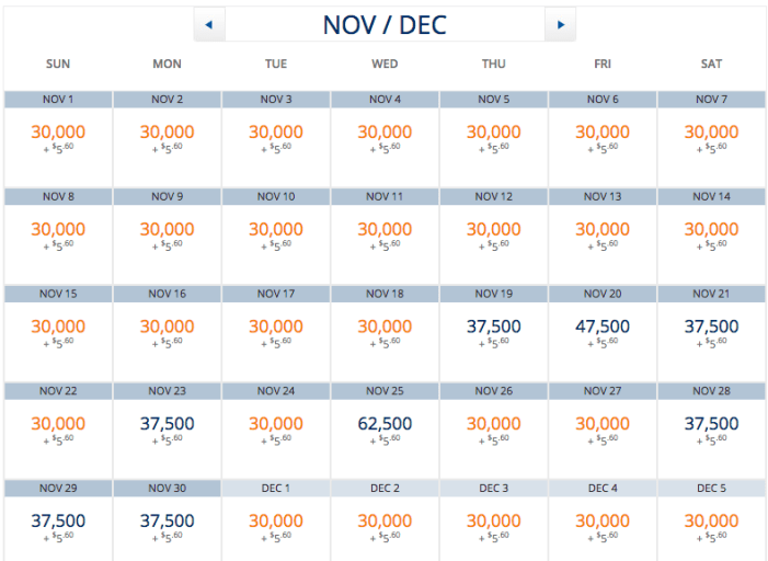 There is a seat almost every day for 30,000 Skymiles from Los Angeles to Paris this fall.