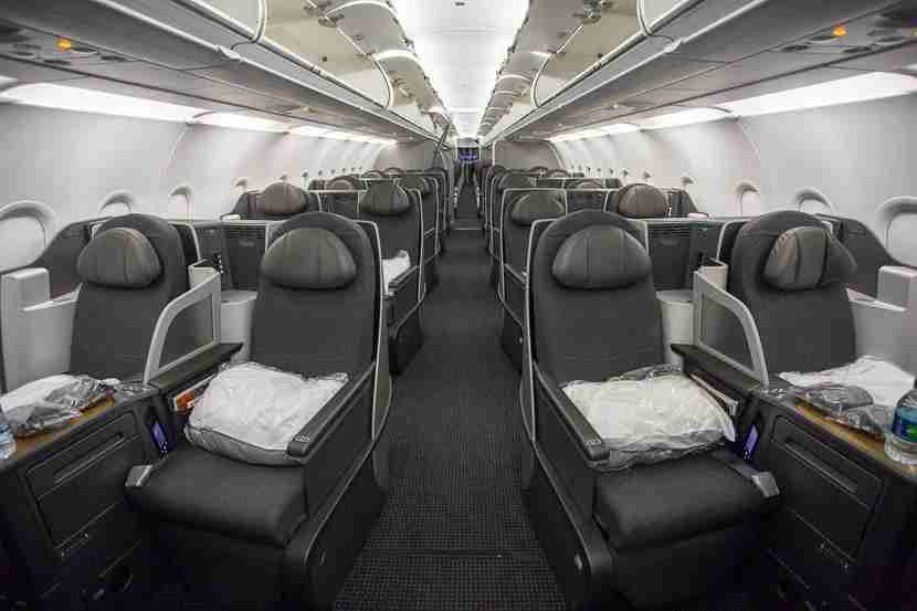 The Business class cabin offers a 2-2 configuration which is one of my favorite transcontinental seats.