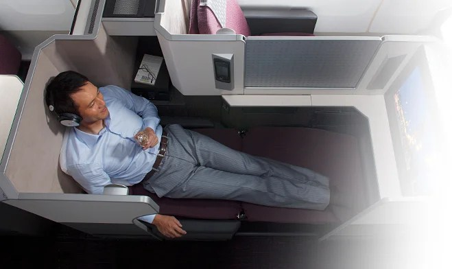 """An individual """"pod"""" on JAL's new 787."""