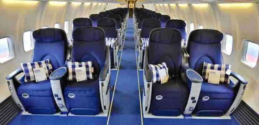 The 737 is currently configured with 44 business-class seats.