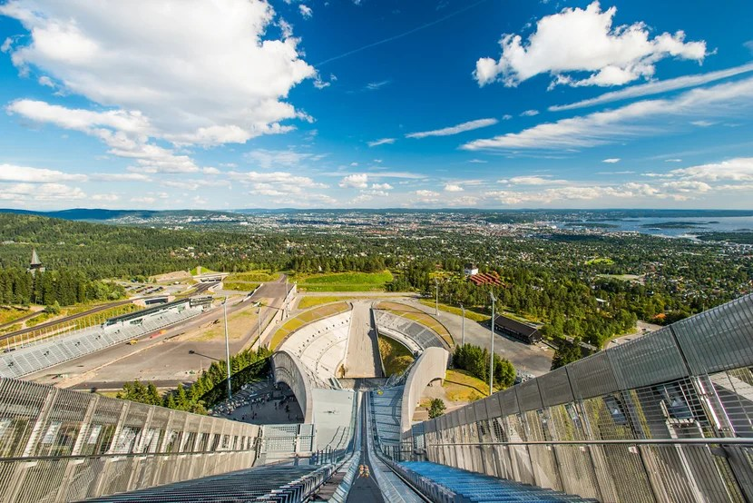 Even without any events, Oslo's Holmenkollen ski jump is a thrill. Photo courtesy of Shutterstock.