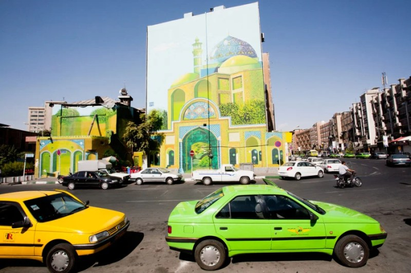 Modern culture is thriving in Iran — evidenced by street art in the center of Tehran. Photo courtesy of Shutterstock.