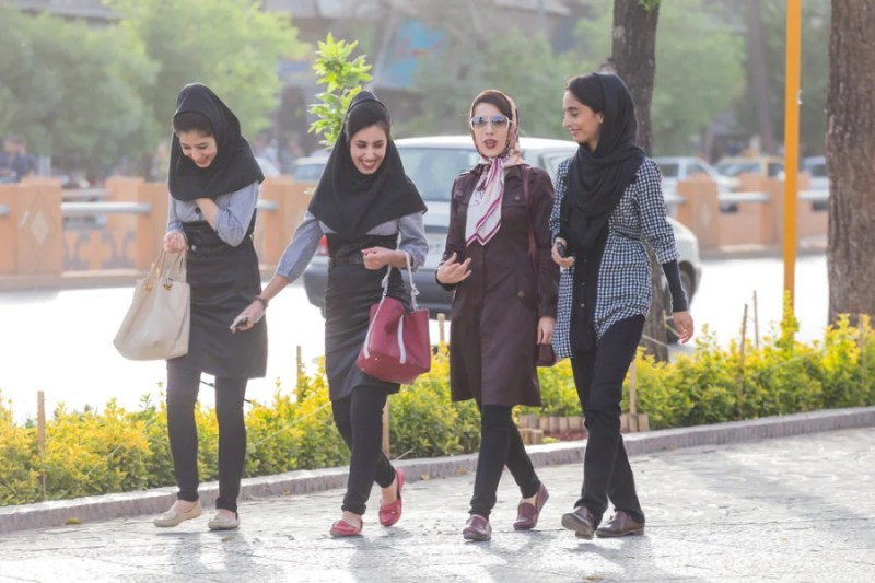 Women in Iran are still required by law to keep their heads covered. Photo courtesy of Shutterstock.