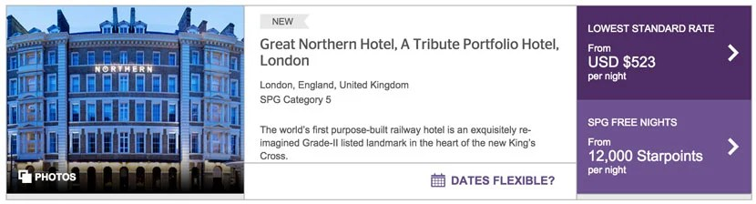 The Great Northern Hotel in London is a worthwhile redemption if you're buying Starpoints.