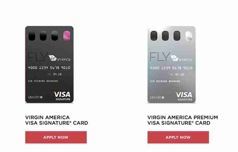 The Virgin America credit cards from Comenity Bank.