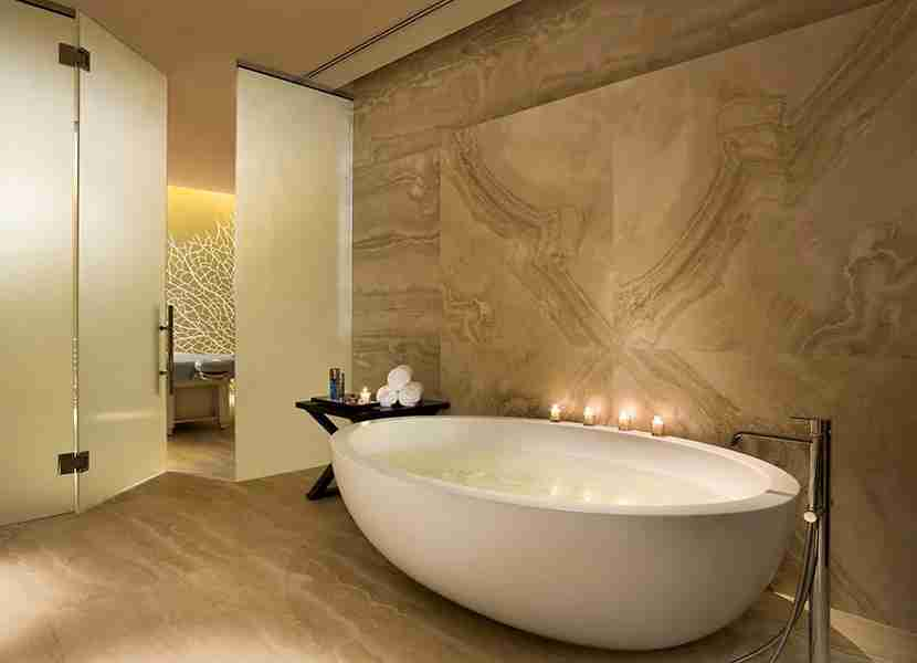 Serene tones and custom furnishings make the Remède Spa a natural extension of this prestigious resort. Photo courtesy of the St. Regis Bal Harbour.