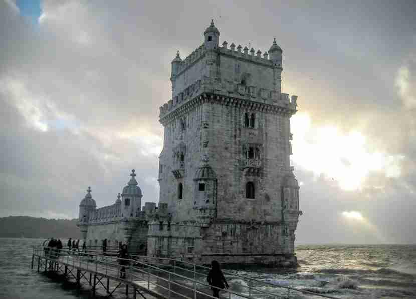 The stunning Torre de Belem in Lisbon, Portugal