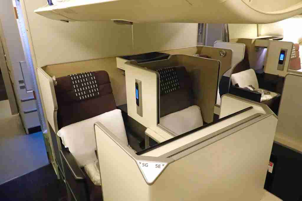 The business-class mini-cabin.