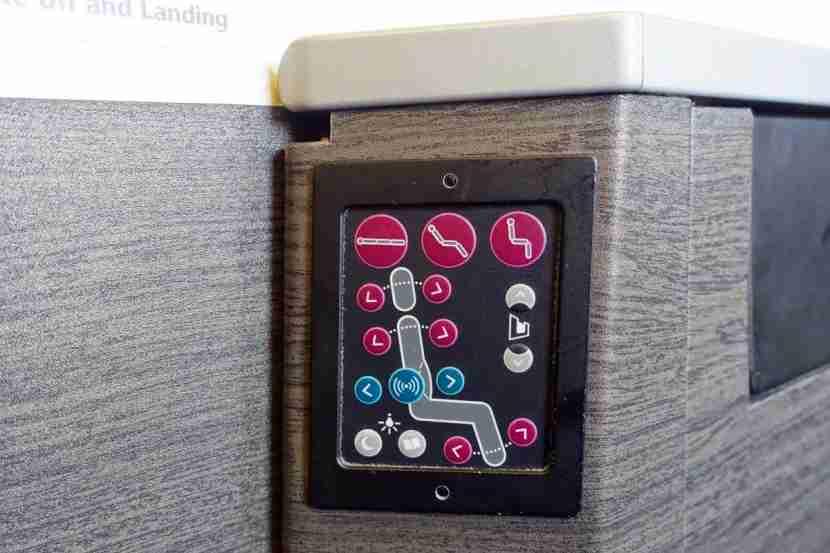 Push-button seat controls.