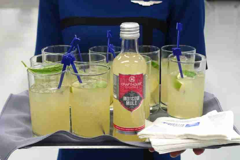 United recently added Moscow Mules.