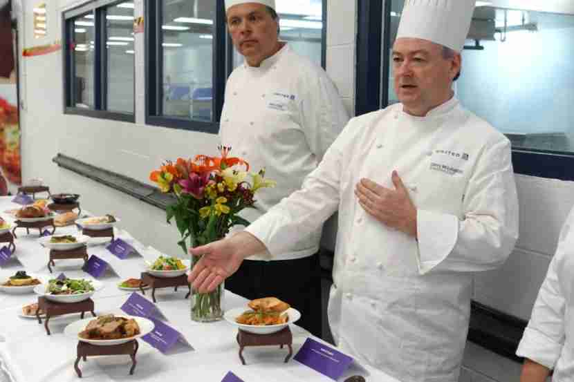 United Executive Chef Gerry McLoughlin presents the airline