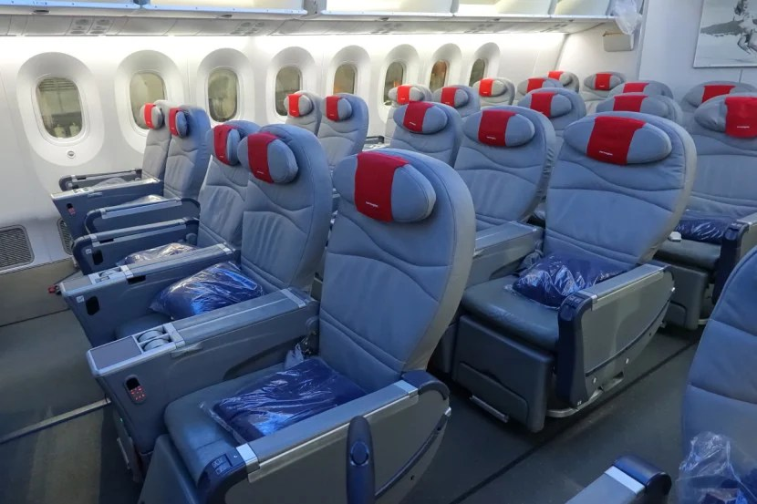 Premium seats on Norwegian's 787.