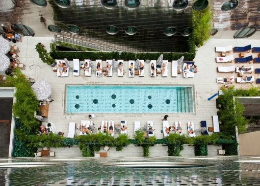 The pool at the Dream Downtown, NYC.
