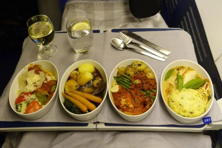 I tried four different entrees on my SAS flight to Newark from Copenhagen.