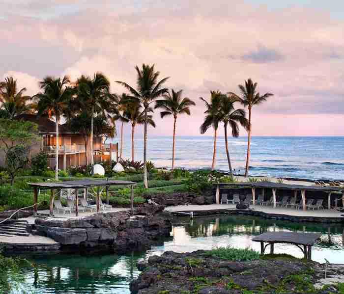 The pool at the Four Seasons Resort Hualalai.