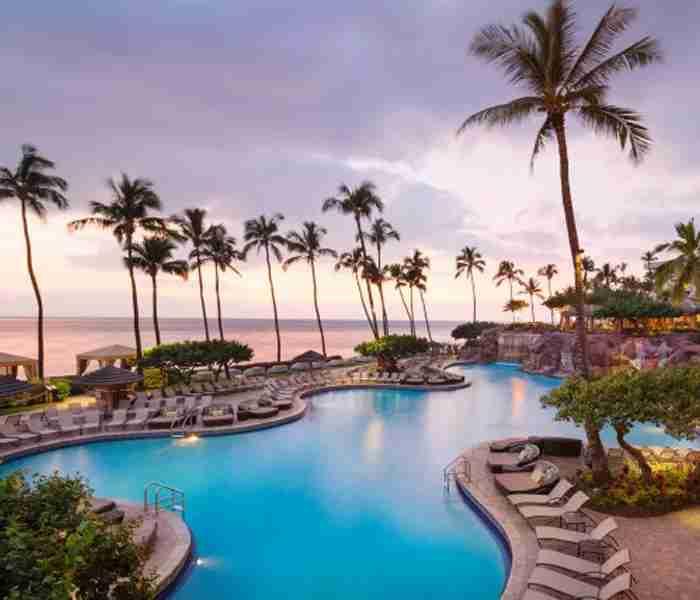 The pool at the Hyatt Regency Maui Resort & Spa.