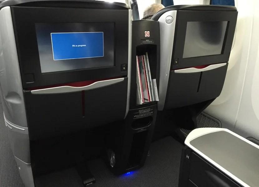 Non bulkhead seats get the large screens